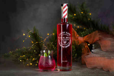 Eden Mill St Andrews - Candy Cane Christmas Gin 70cl bottle and two Candy Cane Mojito cocktails - Save 23%