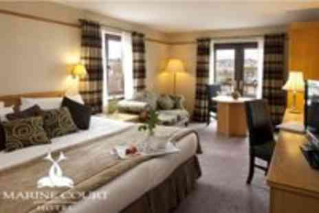Marine Court Hotel - One Nights B&B for 2 plus a Bottle of Wine on Arrival - Save 50%