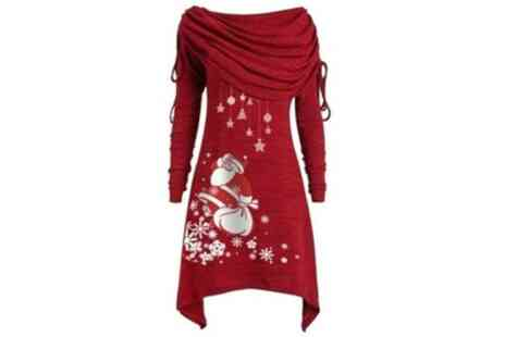 Groupon Goods Global GmbH - Womens Christmas Jumper Dress - Save 73%