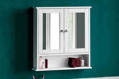 Home Discount - White wall cabinet - Save 60%
