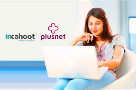 Incahoot - 12 month Plusnet Broadband Package,  unlimited surfing with up to 20Mb connection speed - Save 92%