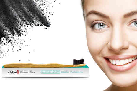 Forever Cosmetics - Advanced charcoal teeth whitening powder and bamboo charcoal brush - Save 69%
