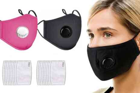 Groupon Goods Global GmbH - 100% Cotton Face Masks with 2, 10 or 20 Filters - Save 0%