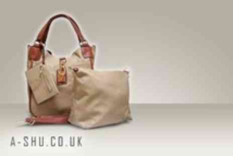 A SHU.co.uk - A faux leather tote handbag set in a range of colours - Save 60%
