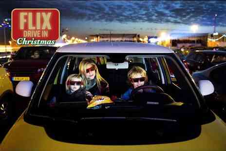 Flix Drive In - Christmas drive in cinema ticket for a car with up to seven people - Save 36%