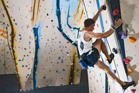 Romford Rock And Boulder - Indoor Climbing Day Pass for Up to Two Adults and One Child - Save 28%