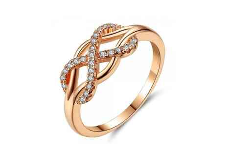 Your Ideal Gift - Crystal Infinity Ring 4 Sizes - Save 87%