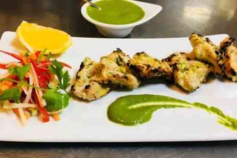 Mint Leaves Real Indian Food - Three Course Christmas Themed Indian Dinner for Two or Four - Save 31%