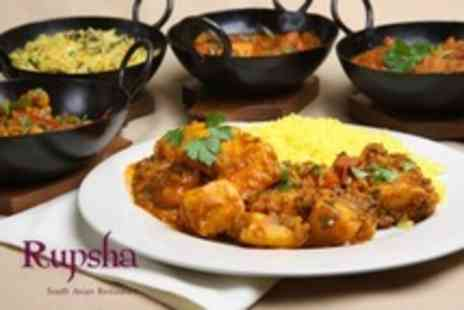 Rupsha - Two Indian Fare Courses For Two - Save 50%