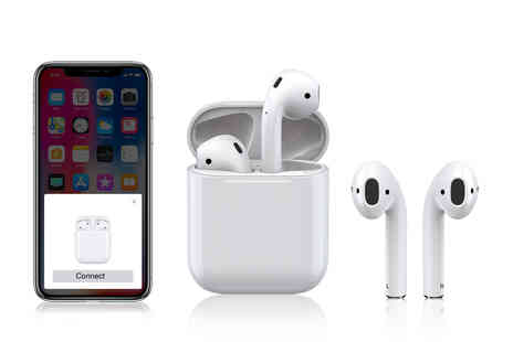 Buy Something - Pair of Apple compatible wireless earbuds - Save 77%