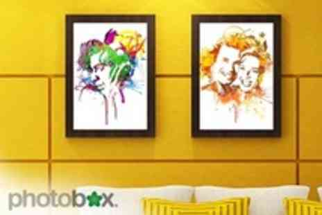 PhotoBox - Mix It Up Photo Art from With Choice of Effects Such as Oil Paint or Pop Art 10 x8 print - Save 58%