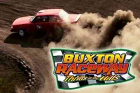 Buxton Raceway - Family Ticket to Banger and Stock Car Racing With Two Drinks - Save 50%