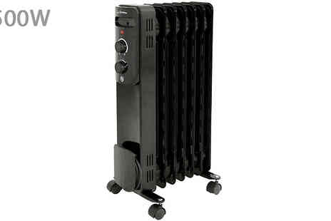 Garden and Camping - 1500W or 2000W Oil Filled Radiator - Save 40%