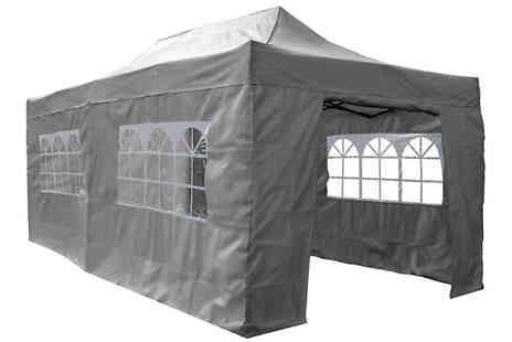 Garden & Camping - PRE SALE 2m, 2.5m or 6m Pop Up Gazebo With Sides - Save 22%