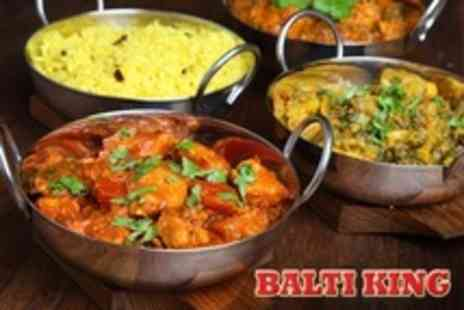 Balti King - Two Courses of Indian Cuisine For Two With Sides - Save 71%