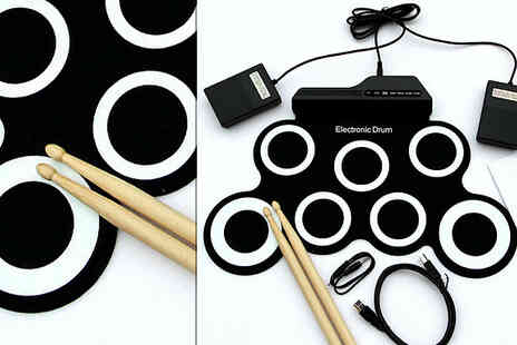 Direct 2 public - 7 Pad Electronic Folding Drum Kit - Save 78%