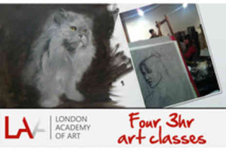 The London Academy Of Art - Month of Art Classes - Save 90%