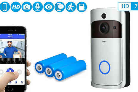 Direct 2 public - Silver Wireless Video Doorbell and Optional Batteries - Save 84%