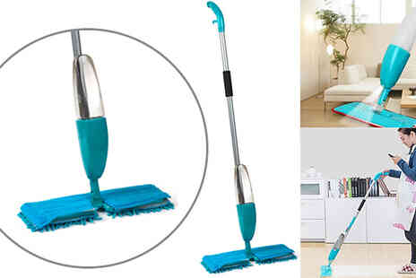 Direct 2 public - Double Sided Spray Mop With 550ml Water Spray - Save 70%