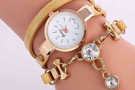 Elle and Be - Crystal Snake Drop Wrap Watch - Save 77%