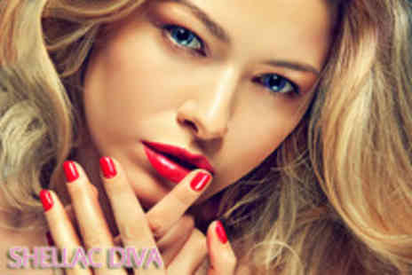 Shellac Diva - Luxury Shellac gel overlays manicure for 3 - Save 63%