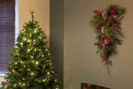 Garden & Camping - Christmas Garlands With Optional Lights - Save 60%