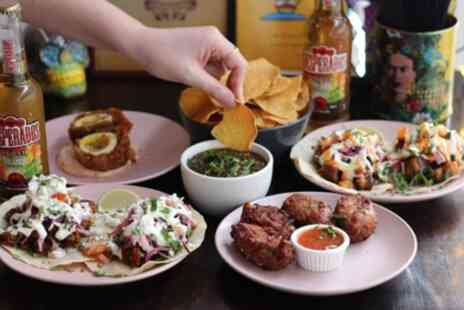 Halisco - Three or Six Mexican Small Plates to Share with Churros for Two or Four - Save 45%