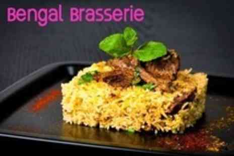 Bengal Brasserie - Two Course Indian Meal With Rice or Naan For Two - Save 61%