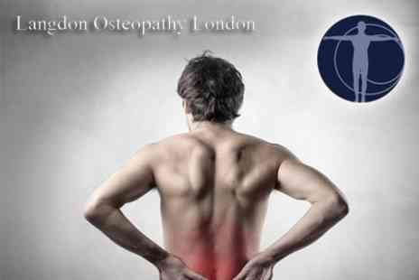 Langdon Osteopathy London - Four Osteopathy Sessions Including Consultation - Save 85%