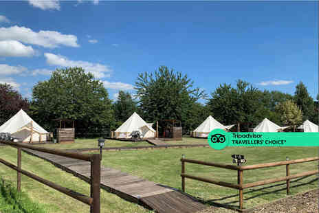 Oak Lodge Retreat - A Brome, Suffolk luxury bell tent glamping trip for four people - Save 61%