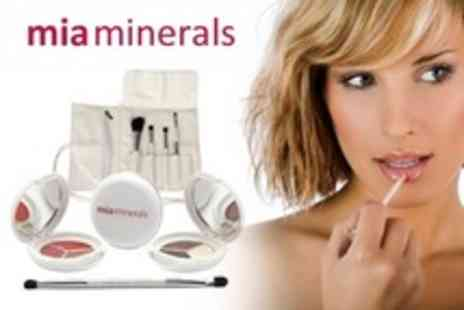 Mia Minerals - Eyes and Lips MakeUp Collection With Brush Set - Save 73%