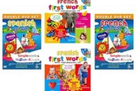 Kids Learn Languages - French or Spanish language Book and two DVDs for young children - Save 51%