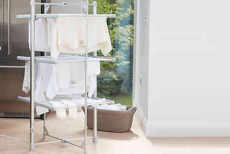 Direct 2 public - 3 Tier Electric Heated Tower Airer 300W - Save 30%