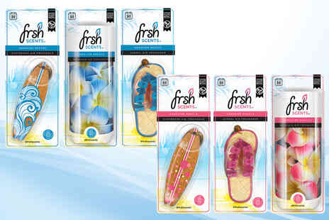 JRP Distribution - Pack of three car air fresheners in Hawaiian Breeze or Sunshine Vanilla scent sets - Save 54%