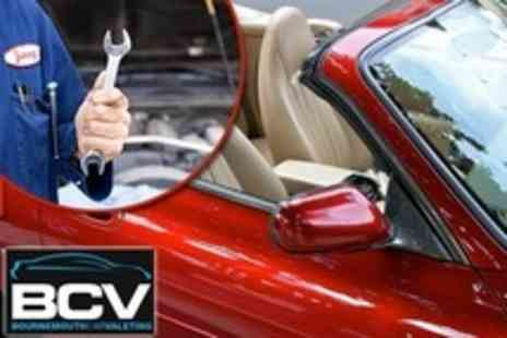 Bournemouth Car Valeting - MOT With Air Con Check Plus Full Valet - Save 50%