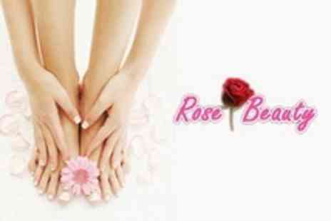 Rose Beauty - Manicure and Pedicure - Save 70%