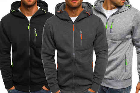 PinkPree - Casual mens zip up hoodie in sizes M-XXL - Save 70%