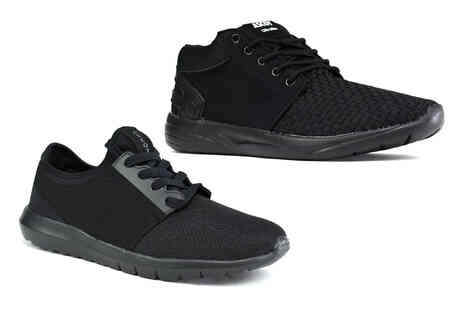 Shoe Fest - Pair of mens black trainers - Save 0%