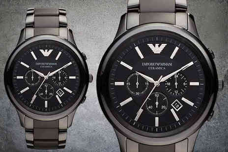 CJ Watches - Mens Armani luxury AR1451 ceramic watch - Save 76%