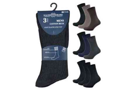 Groupon Goods Global GmbH - Pack of Three, Six or Nine Pairs of Men's Diabetic Socks - Save 0%