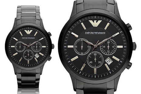 CJ Watches - Mens Emporio Armani AR2453 steel watch - Save 72%