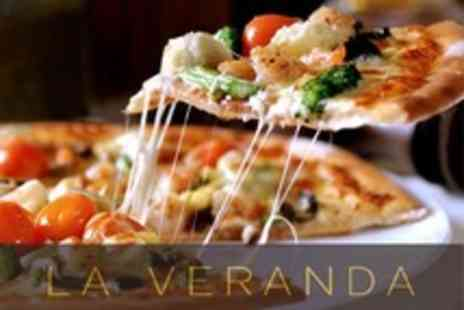 La Veranda - Pizza or Pasta Dish, Garlic Bread and Coffee For Two - Save 55%
