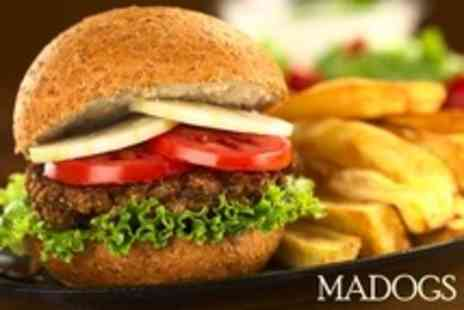 Madogs - Burger For Two With Cocktail Each - Save 61%