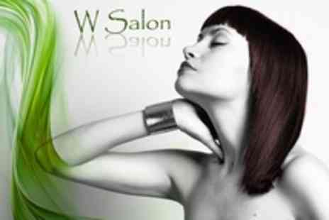 W Salon - Cut and Blow Dry With Hair Treatment - Save 59%