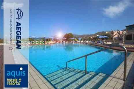 Aegean Airlines - All Inclusive Holiday at 5 Aquis Silva Beach Hotel in Crete Four Nights Including Flights - Save 50%