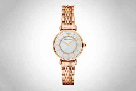 CJ Watches - Ladies Emporio Armani AR1909 watch - Save 73%