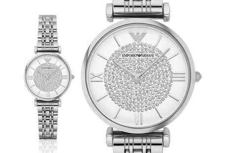CJ Watches - Ladies silver Emporio Armani luxury watch - Save 0%
