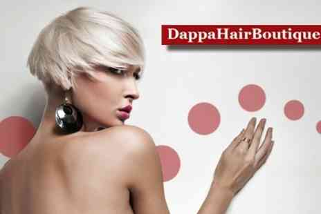 Dappa Hair Boutique - Haircut and Bumble & Bumble, Philip Kingsley or Moroccanoil Conditioning Treatment - Save 61%