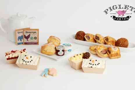 Piglets Pantry - Winter, Vegetarian or Vegan Sparkle Afternoon Tea Box For Two - Save 31%