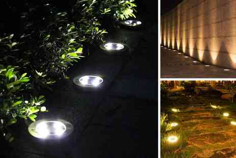 Backtogoo - Waterproof ground disk garden solar light - Save 65%
